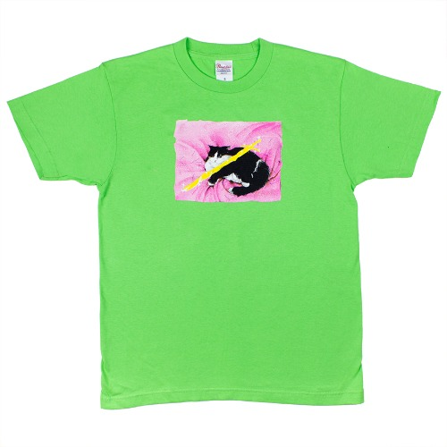 [A060] Cat t-shirt (lime)