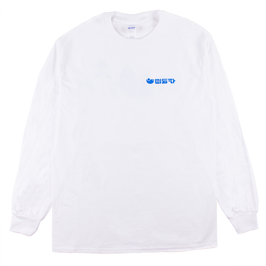 [B035] MiDoPa long sleeve shirts (white)